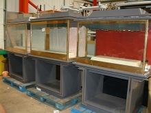 BGC003LG Heavy Solid Brass Secure Display Cabinets