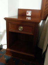 BC0300MFWS Regency Style Bedside Cabinets in Mahogany Finish