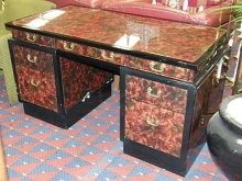 CD005VO Chinese Style Executive Desk with Mottled Effect Top
