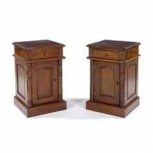 COL02MF New Colonial Style Bedside Table In Mahogany Finish