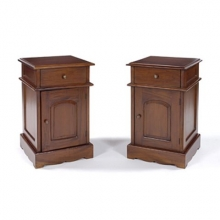 COLP02MF New Colonial Style Bedside Table in Mahogany Finish