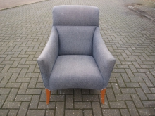TUB096SPU Tub Style Chair in Salmon Pink or Grey Upholstery