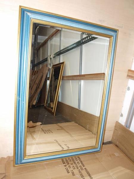 Lwm003bf Large Wall Mirror In Blue Frame