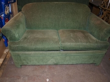SB040GU Green Two Seater Sofa Bed