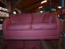 CSB011BG Burgundy Upholstered Two Seater Sofa Bed
