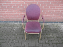 BQC048BGA Gold Frame Banqueting Chair with Arms