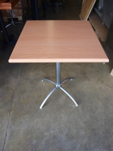 BIST011BV Square Bistro Tables with Beech Veneer Top