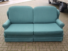 CSB01GR Green Upholstered Contract Sofa Bed with Twin Pullout Metal Frame .