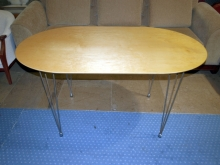 CONFT01BC Conference Style Oval Table with Beech Finish Top