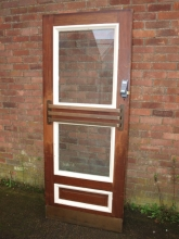 FD01GWO Solid Fire Door with Glass Panels