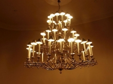 LGCH01BR Large Forty Arm Antique Style Brass Chandelier