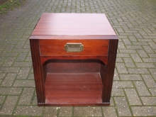 BSC015MS Military Style Bedside Cabinet in Mahogany Finish