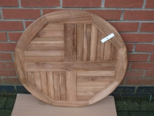 RTT0100TK7 New 700mm Diameter Round Teak Outdoor Table Top