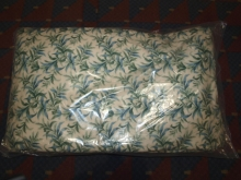 CRT018GBF Pair of Contract Curtains in Beige with Green & Blue Floral Pattern