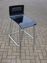 HBS01BLRS New High Bar Stool with Black Resin Seat