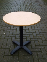 RDRT08LOBB Round Restaurant Pedestal Tables with Light Oak Top