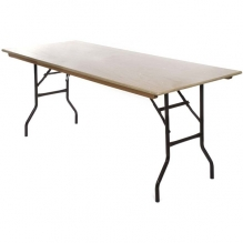 TRES004WT New Wooden Trestle Table