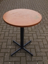 BIST013BMC Round Bistro/Cafe Pedestal Tables with Cherry Wood Finish Top