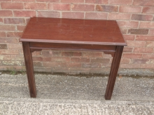 HFT06OM  Wall Mounted Side Table in Mahogany Finish