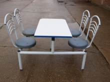 CFU07LFS Four Seater Cafeteria Style Table & Chair Units