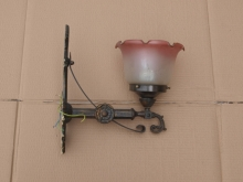 AWL01FLS Antique Style Ornate Brass Wall Light