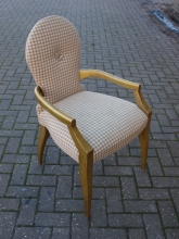 WMC01GF William MacLean Carver Chair with Gold Frame