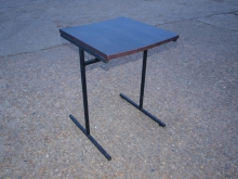 MBT04TSM Two Seater Metal Frame Table with Dark Oak Finish Top