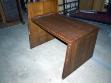 HSWT10PB Heavy, Solid Wood Table with Privacy Board