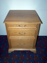 COD010LO Bedside Cabinet in Light Oak Finish