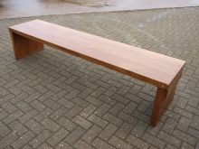 LBCH02SW Large Solid Wood Bench Seat in Oak Finish