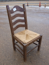 LBRC06WKS Solid Wood Ladder Back Restaurant Chairs with Wicker Seat Pad