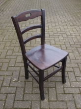 LBC017DO Ladder Back Bar Chairs in Dark Oak Finish
