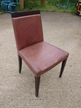 RDC018PRD Restaurant Dining Chairs in Reddish Brown Leather
