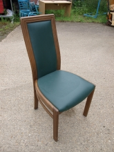 HBC02GL High Back Restaurant Dining Chair in Green Leather