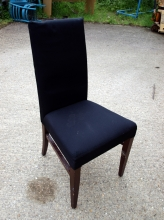 HBC05BF High Back Restaurant Chair in Black Fabric Upholstery