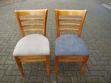 DALL07BGBL Dallas Style Bar/Restaurant Chairs with Fabric Upholstered Seats