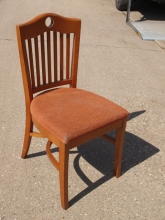 RDC07HBO Cherry Wood Restaurant Dining Chairs with Orange Fabric Upholstered Seats