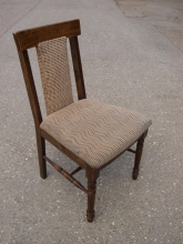 RDC04BRU Restaurant Dining Chairs with Brown Patterned Fabric Upholstery