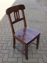 BRC07CHS Traditional Style Bar/Restaurant Chairs in Dark Wood Finish