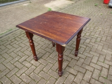 SFHT01OF Square Farmhouse Style Table in Oak Finish