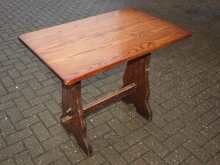 OPT01ROF Refectory Style Four Seater Pub Table in Oak Finish