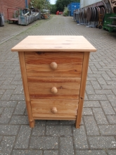 BST02PN Three Drawer Bedside Tables in Pine