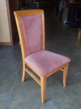 RDC024SM High Back Restaurant Chairs with Salmon Pink Upholstery