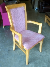 RDC09SMA High Back Restaurant Carver Chairs with Salmon Pink Upholstery