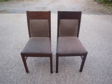 RDC019MFBR Mahogany Frame Restaurant Chairs with Brown Upholstery