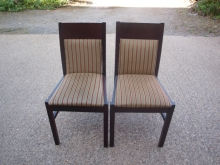 RDC015MFRGS Mahogany Frame Restaurant Chairs with Striped Upholstery