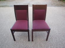 RDC016MFBG Mahogany Frame Restaurant Chairs with Burgundy Fabric Upholstery