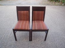 RDC011MFRS Mahogany Frame Restaurant Chairs with Striped Upholstery