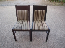 RDC040MFBCS Mahogany Frame Restaurant Chairs with Striped Upholstery