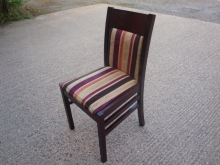 RDC03MFTHS Mahogany Frame Restaurant Chairs with Striped Upholstery